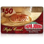 PapaJohns Pizza $50